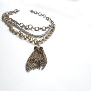 upcycled necklace - hand made in Chicago