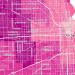 Chicago commute time map