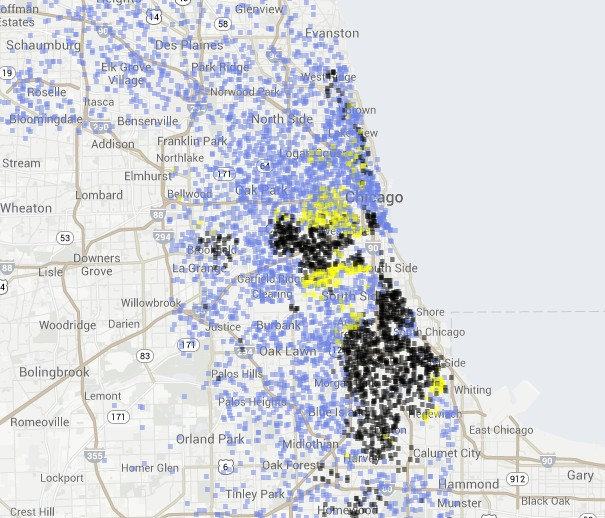 Racial Map Of Chicago Chicago Race Map